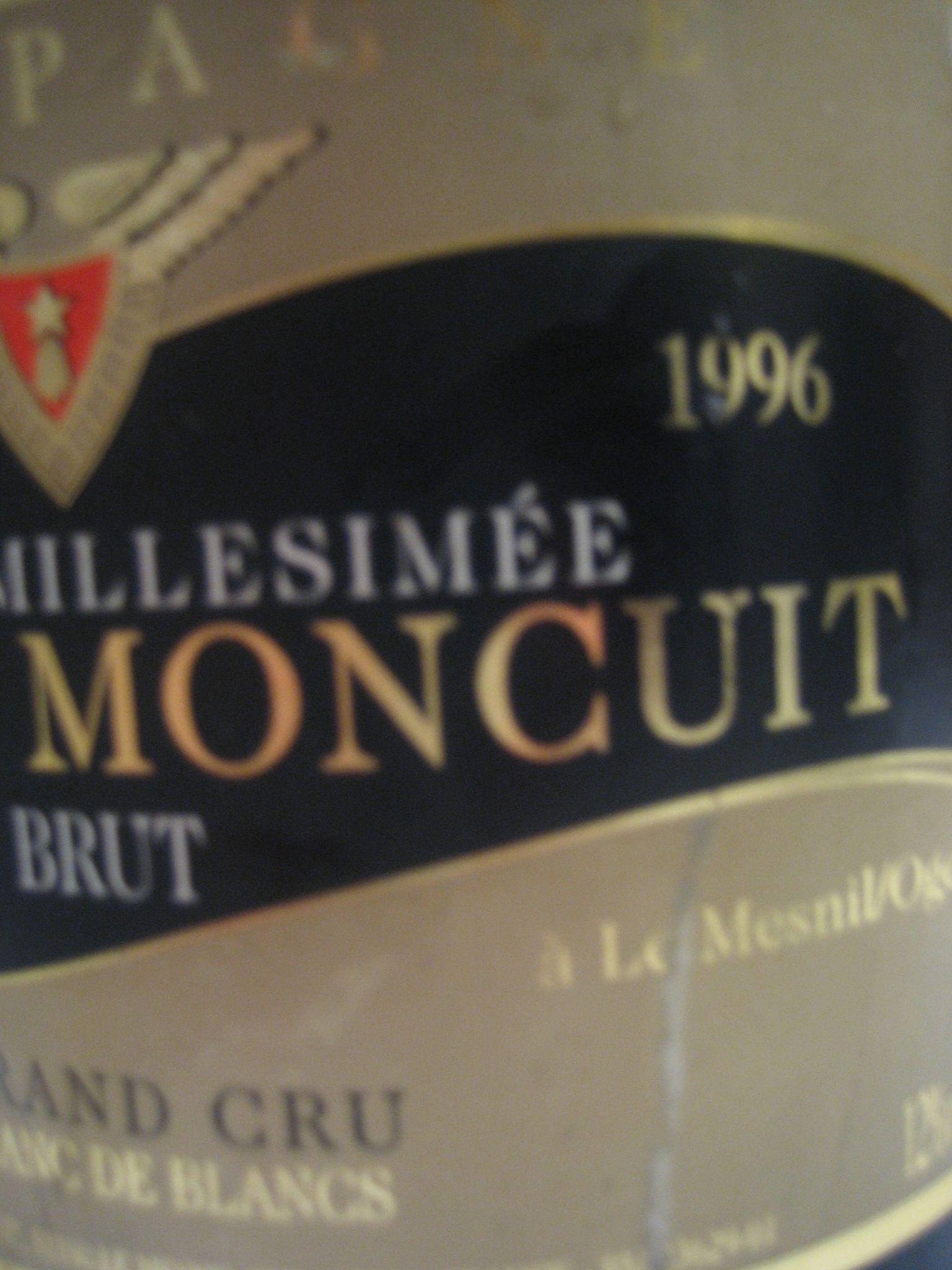 Pierre Moncuit Millesime 1996. Grande annata, grande Champagne (...e grande bottiglia)