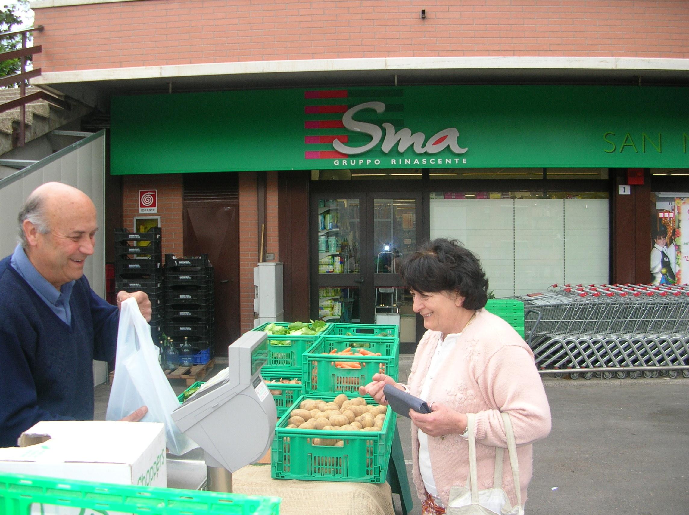 Il farmer's market va al supermercato...