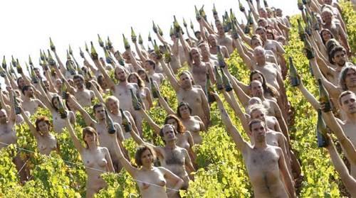 Vigneron nudi e vignaioli in mutande