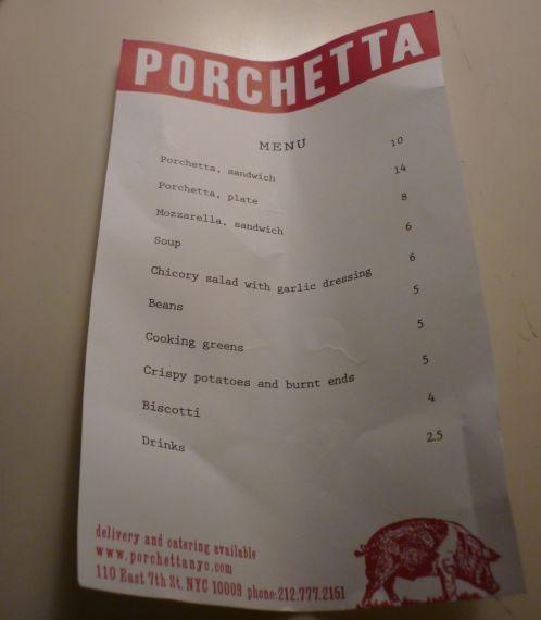 Tipicamente niuiorchese: una buona pasta scotta, la porchetta di East Village e il vino di Sant Enea