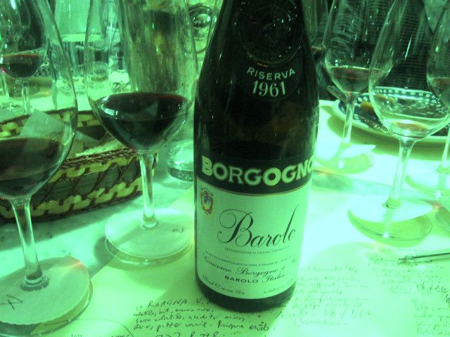 "Vini ""ever green"": Barolo Borgogno 1961"