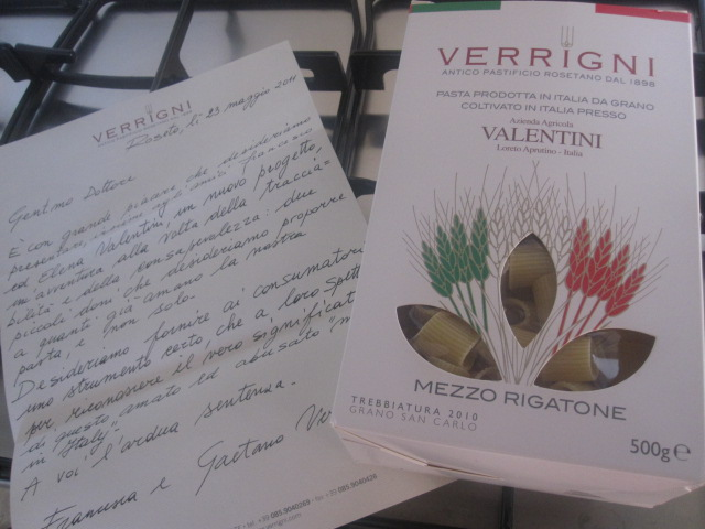 Verrigni e Valentini. Pasta poco...