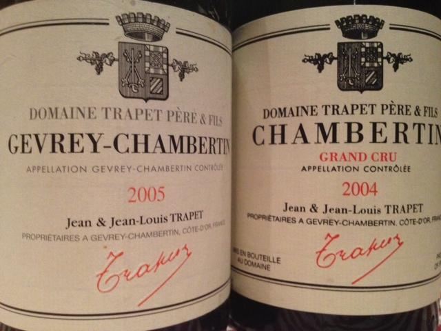Jean Trapet è un nome che mi viene in mente se ho voglia di Chambertin
