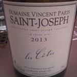 Vincent Paris, Saint-Joseph Les Cotes 2013: il rosso energade per le settimane da tour de force di assaggi