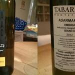 Tabarrini, Trebbiano Spoletino Adarmando 2012: aspettando la terza era e il boom dei bianchi tridimensionali