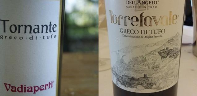 Greco di Tufo Tornante di Vadiaperti e Torrefavale di Cantine dell'Angelo: la coppia perfetta del 2013