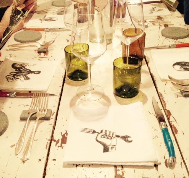 Una delle tavole del ristorante