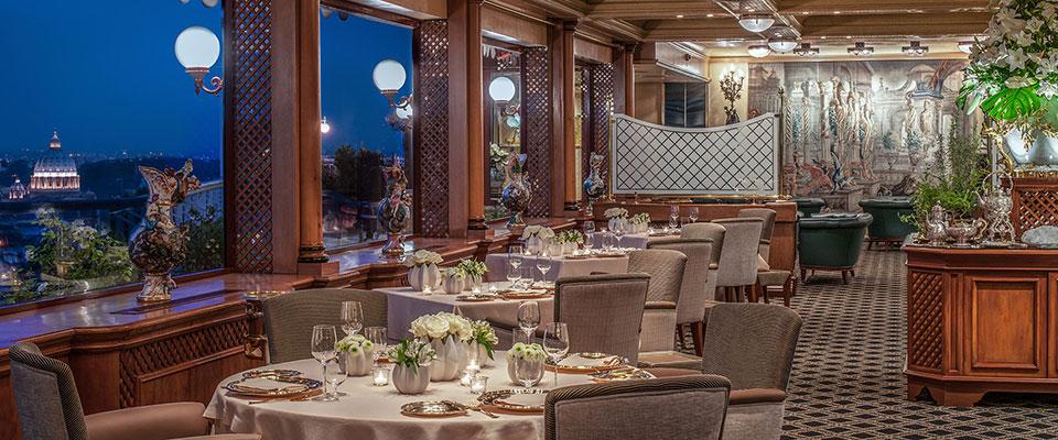 Proposta di legge cena alla pergola dell hilton di roma for La pergola roma prezzi
