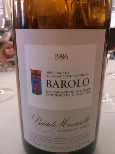 Barolo '86 - Bartolo Mascarello