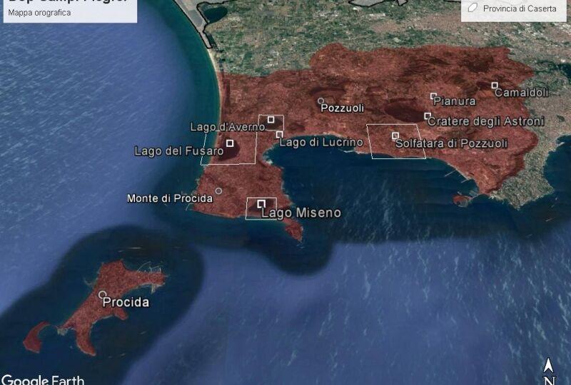 048. mappa Dop Campi Flegrei - orografica